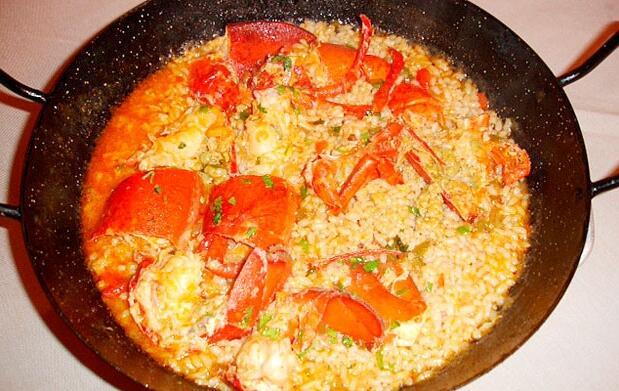 Menú de arroz con bogavante para 2