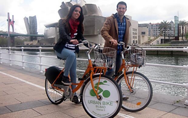 Diviértete pedaleando por Bilbao