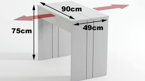 Mesa consola extensible 3 metros