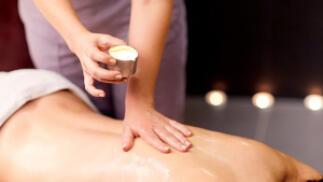 Peeling corporal + masaje relajante con velas en Bilbao