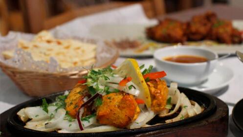 Menú degustación en el Indio Bombay