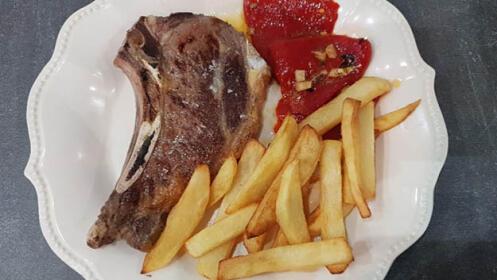 Exquisito menú en el centro de Bilbao