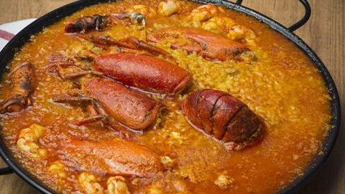 Menú de arroz con bogavante en Santutxu