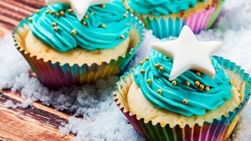 Caja de 6 cupcakes con azúcar