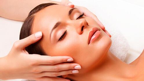 Tratamiento facial hidratante con conchas