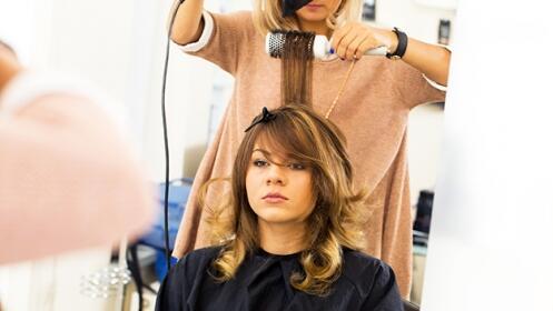 Sesión de peluquería en Bilbao