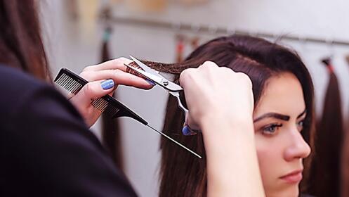 Sesión de peluquería en Barakaldo