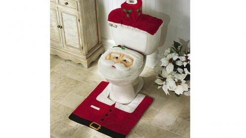 Set de baño decorativo navideño