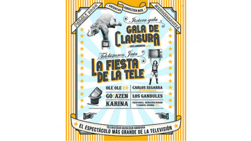 Entradas 'Fiesta de la Tele': Gala de clausura + entrada conciertos el 8 de septiembre