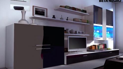 mueble de saln con iluminacin led - Iluminacion Led Salon