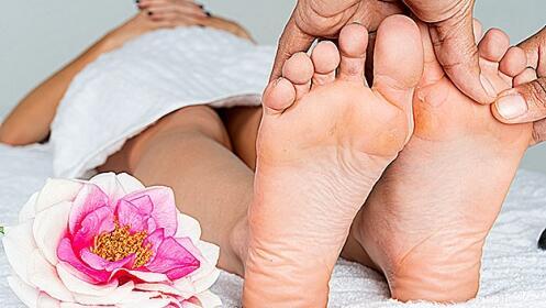 Reflexología podal con aromaterapia