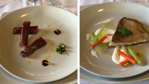 Exquisito menú degustación en el Restaurante La Denis